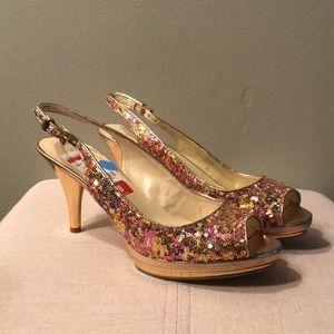 Nine West Heels - Size 8 US - Multi Color Sequins